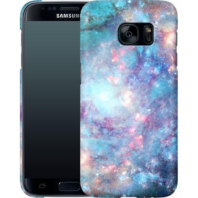 Samsung Galaxy S7 Smartphone Huelle - Abstract Galaxy - Blue von Barruf