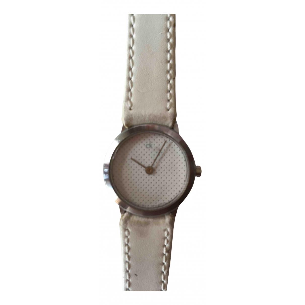 Calvin Klein \N Uhr in  Weiss Stahl