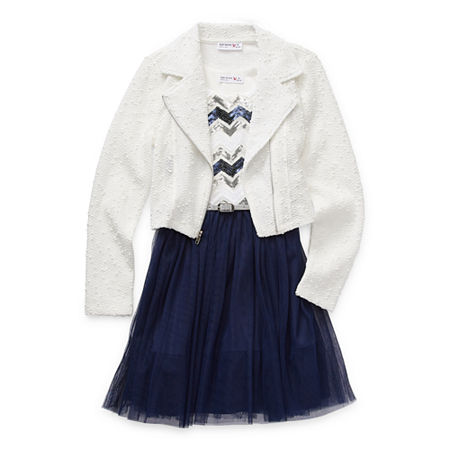 Knit Works Little & Big Girls 2-pc. Jacket Dress, X-small (6-6x) , Blue
