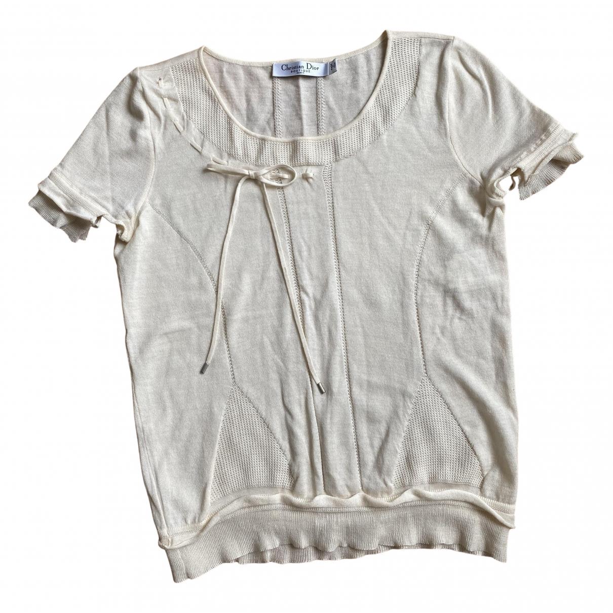 Dior \N Ecru Wool  top for Women 40 FR