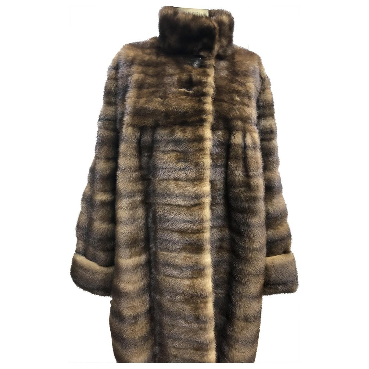 Karl Lagerfeld \N Brown Mink coat for Women 10 US