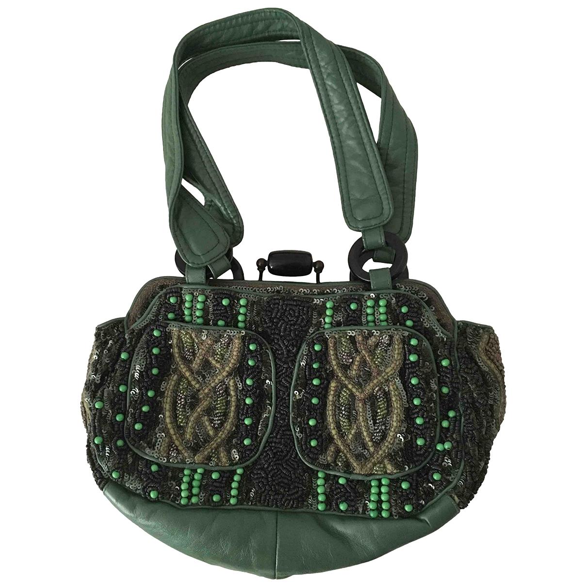 Jamin Puech - Pochette   pour femme en cuir - vert