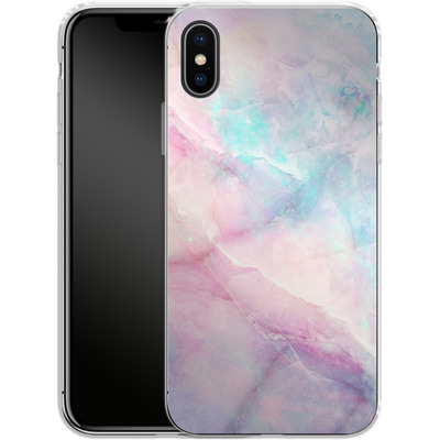 Apple iPhone X Silikon Handyhuelle - Iridiscent von Emanuela Carratoni