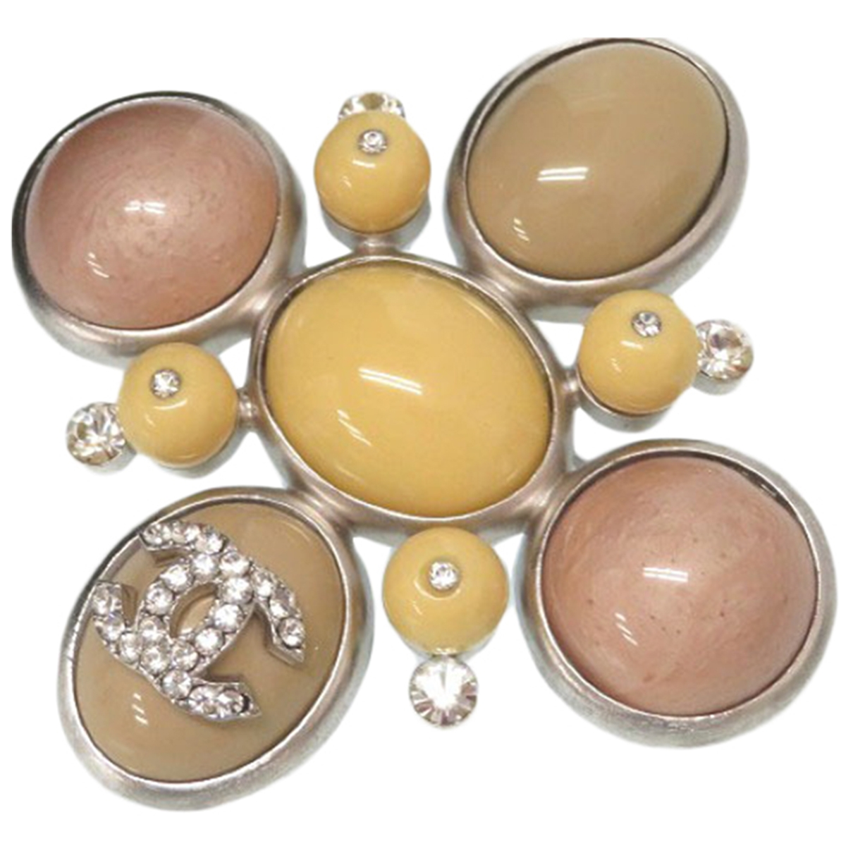 Chanel \N Yellow Metal Pins & brooches for Women \N
