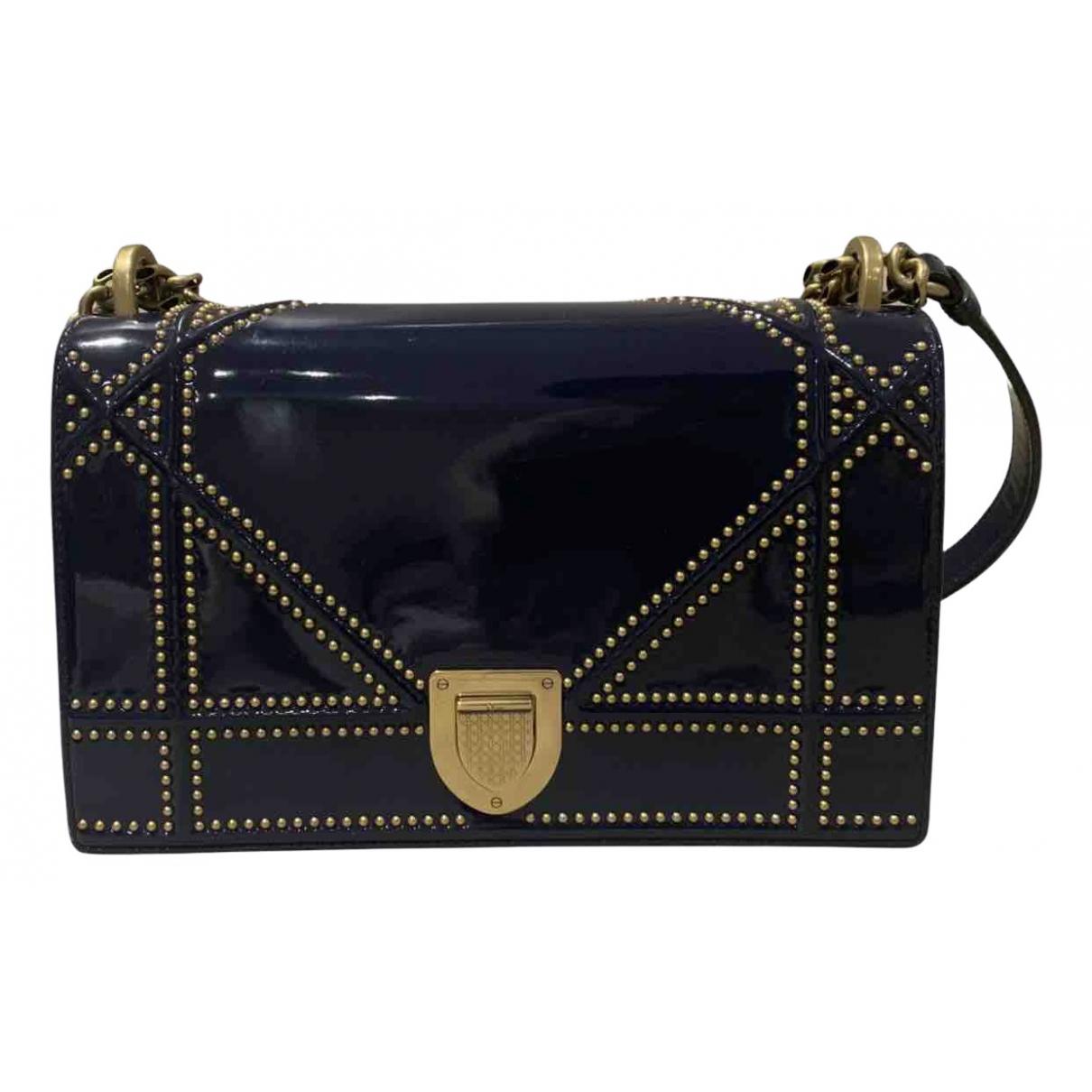 Dior Diorama Navy Patent leather handbag for Women \N