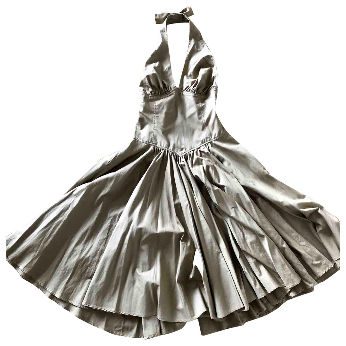 Mila Schon Concept \N Kleid in  Kamel Baumwolle