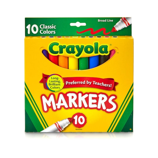 12 Packs: 10 Ct. (120 Total) Crayola® Classic Broad Line Markers | Michaels®