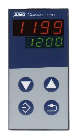Jumo QUANTROL PID Temperature Controller, 48 x 96mm, 2 Output Logic, Relay, 20  30 V ac/dc Supply Voltage P,
