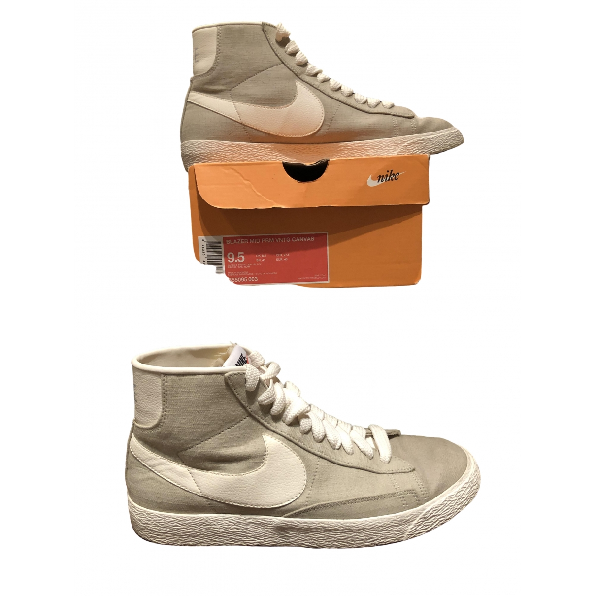 Nike Blazer Beige Cloth Trainers for Men 9.5 US
