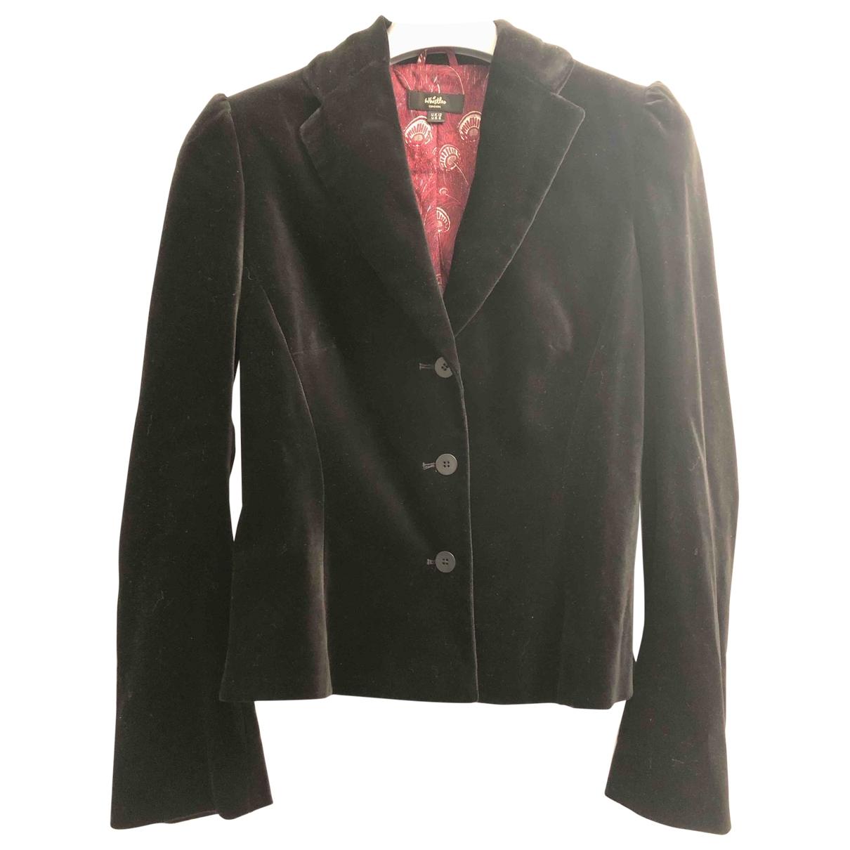 Whistles - Veste   pour femme en velours - noir