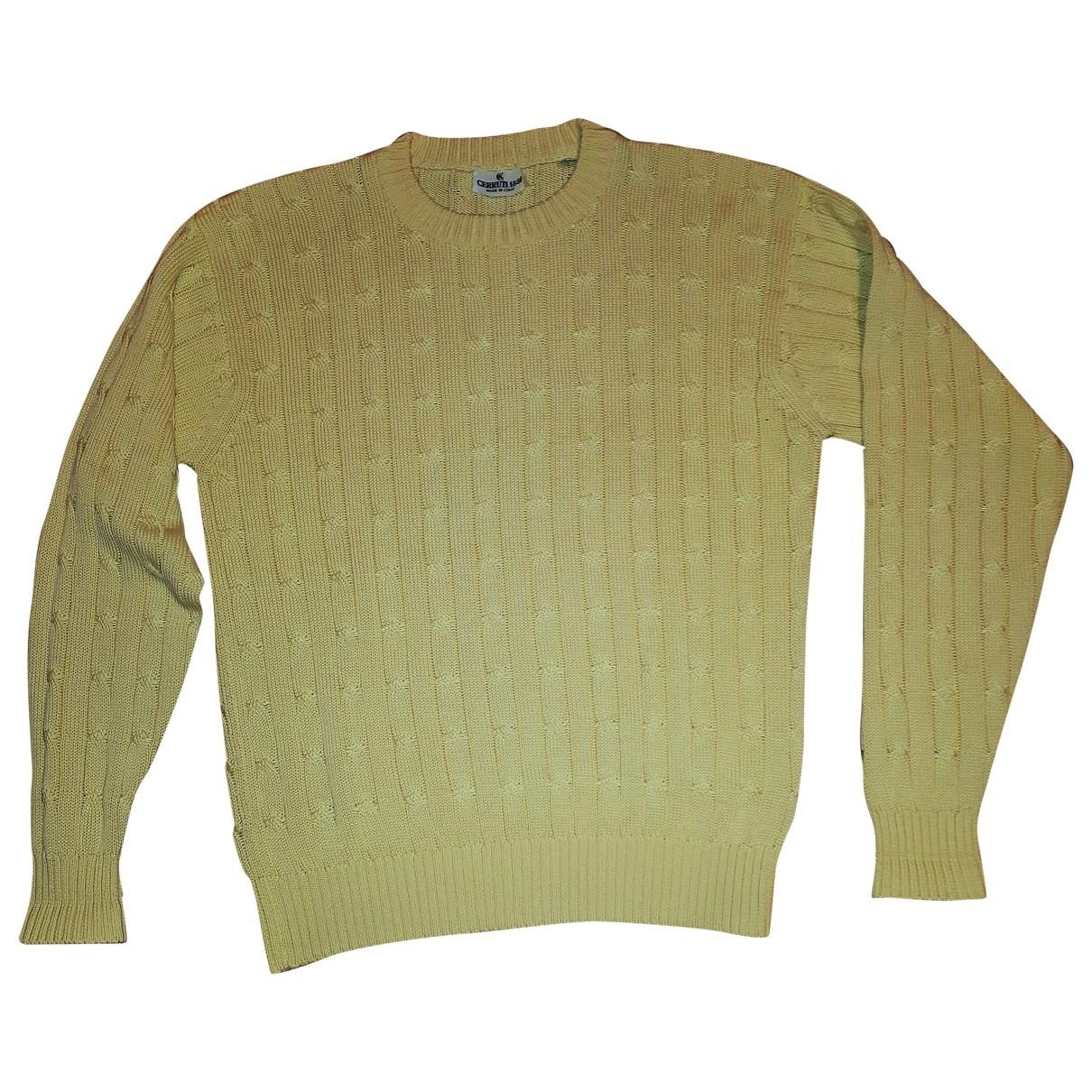 Cerruti \N Pullover in  Gelb Baumwolle