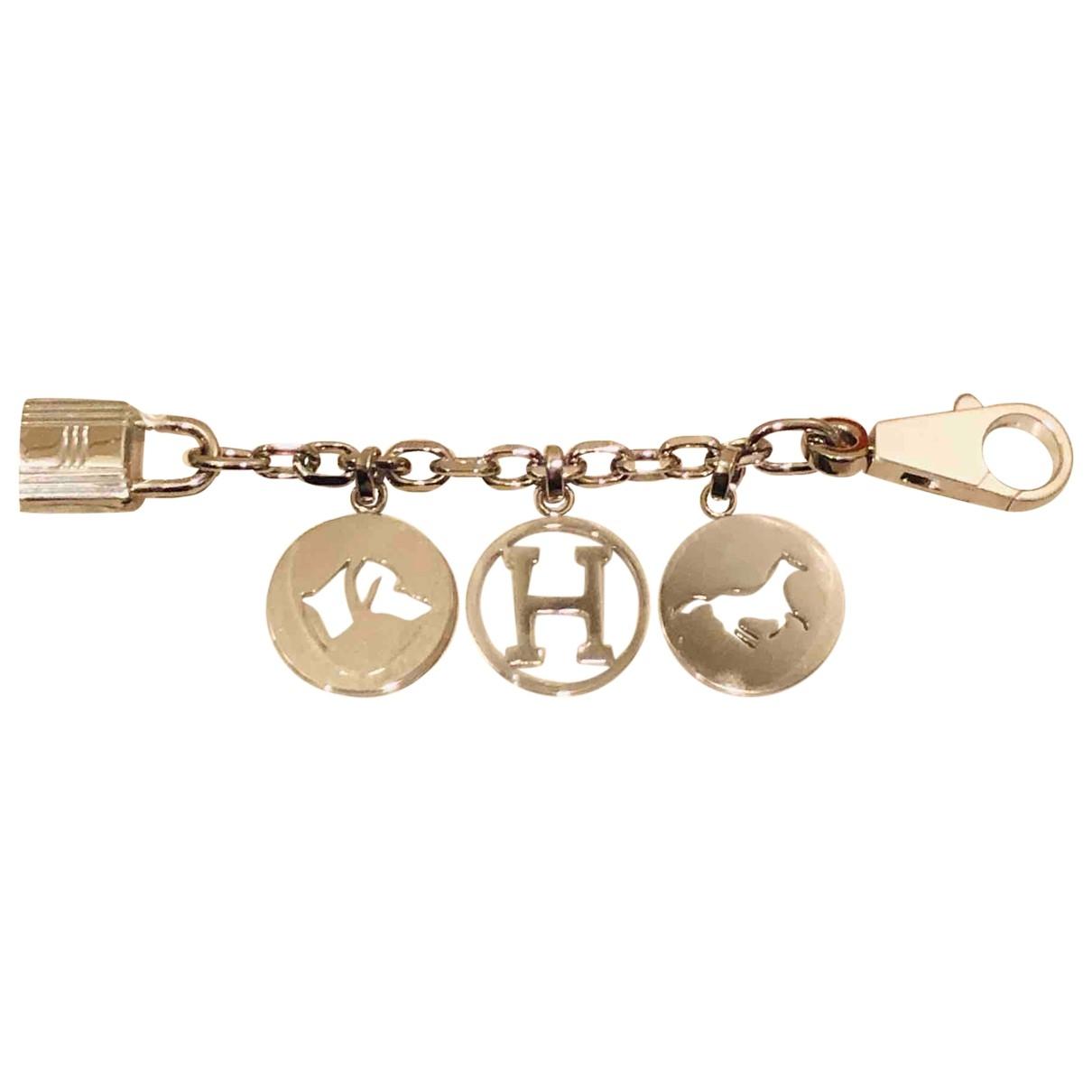 Hermès \N Silver Metal Bag charms for Women \N
