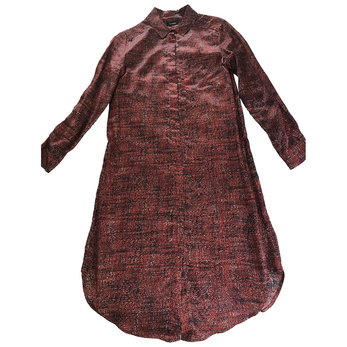 Max & Co \N Kleid in  Bordeauxrot Viskose