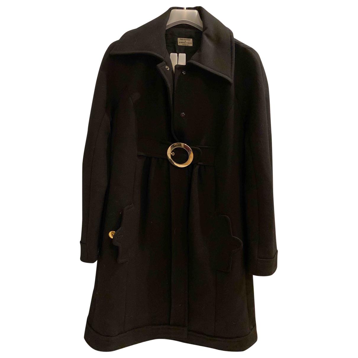 Philosophy Di Alberta Ferretti \N Black coat for Women 40 IT
