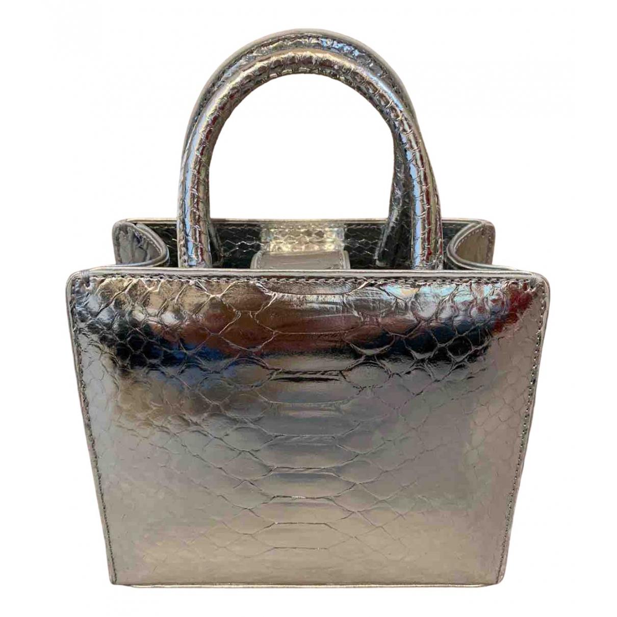 Suvimol \N Handtasche in  Silber Echse