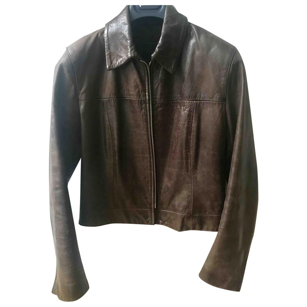 Oakwood - Veste   pour femme en cuir - marron