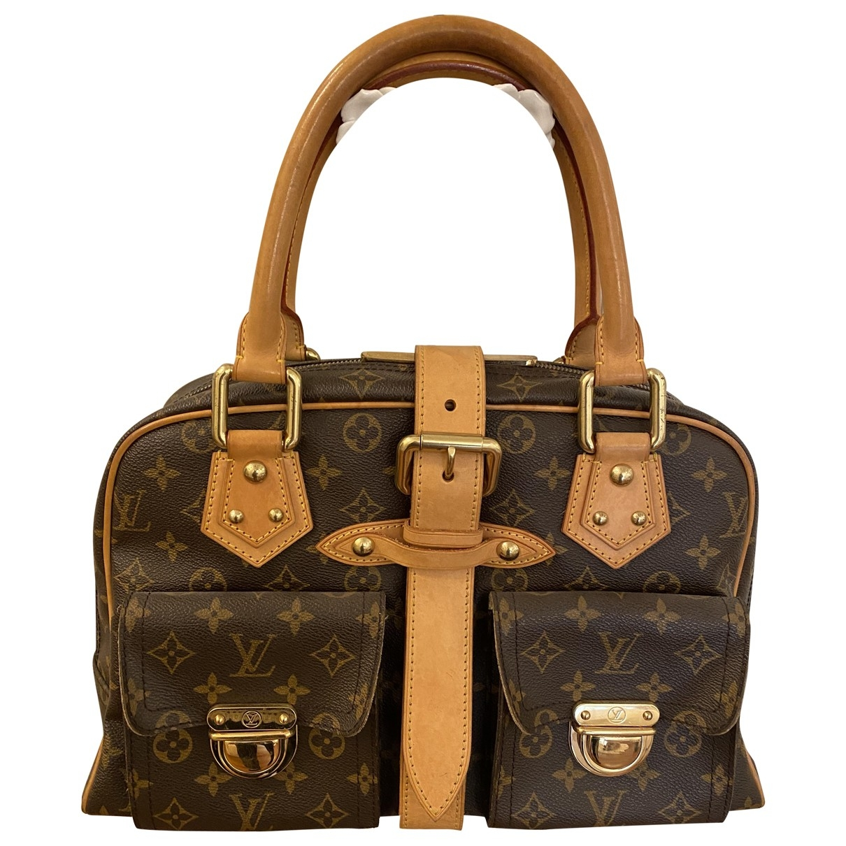 Louis Vuitton Manhattan Handtasche in  Braun Leinen