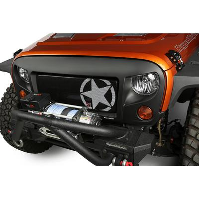 Rugged Ridge Spartan Grille with Star Insert Kit - 12034.31