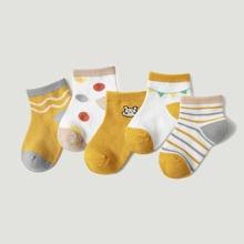 5 Paare Kleinkind Kinder Socken mit Streifen