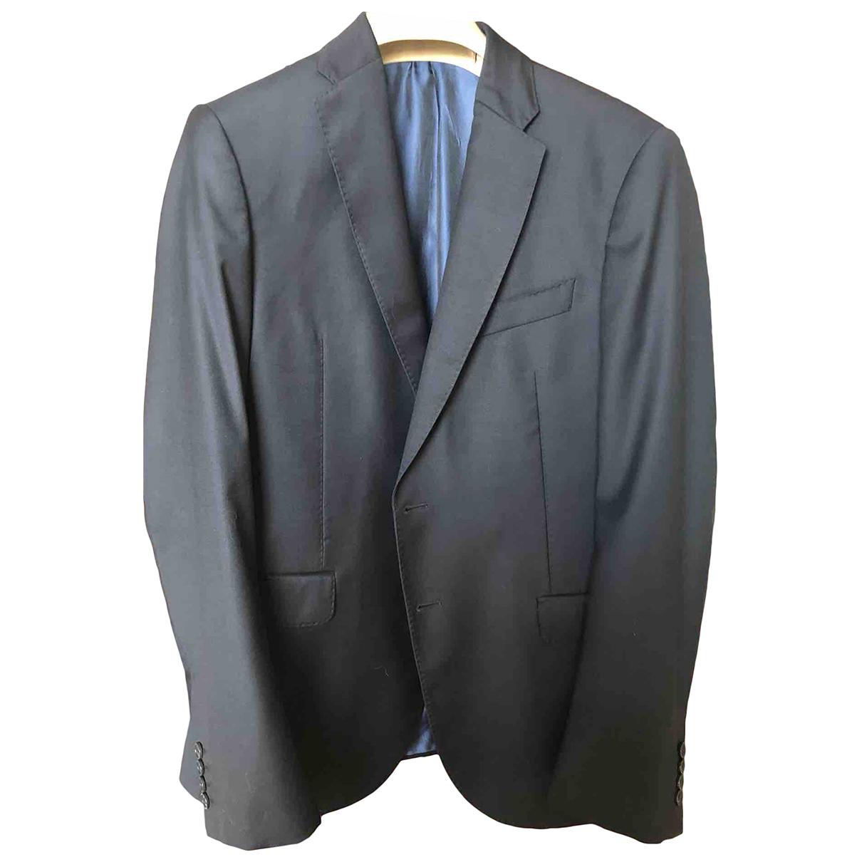 Armani Collezioni N Blue Wool jacket  for Men 50 IT