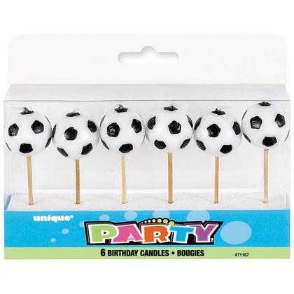 Choix de football de bougies d'anniversaire, 6pcs Pour la fête d'anniversaire