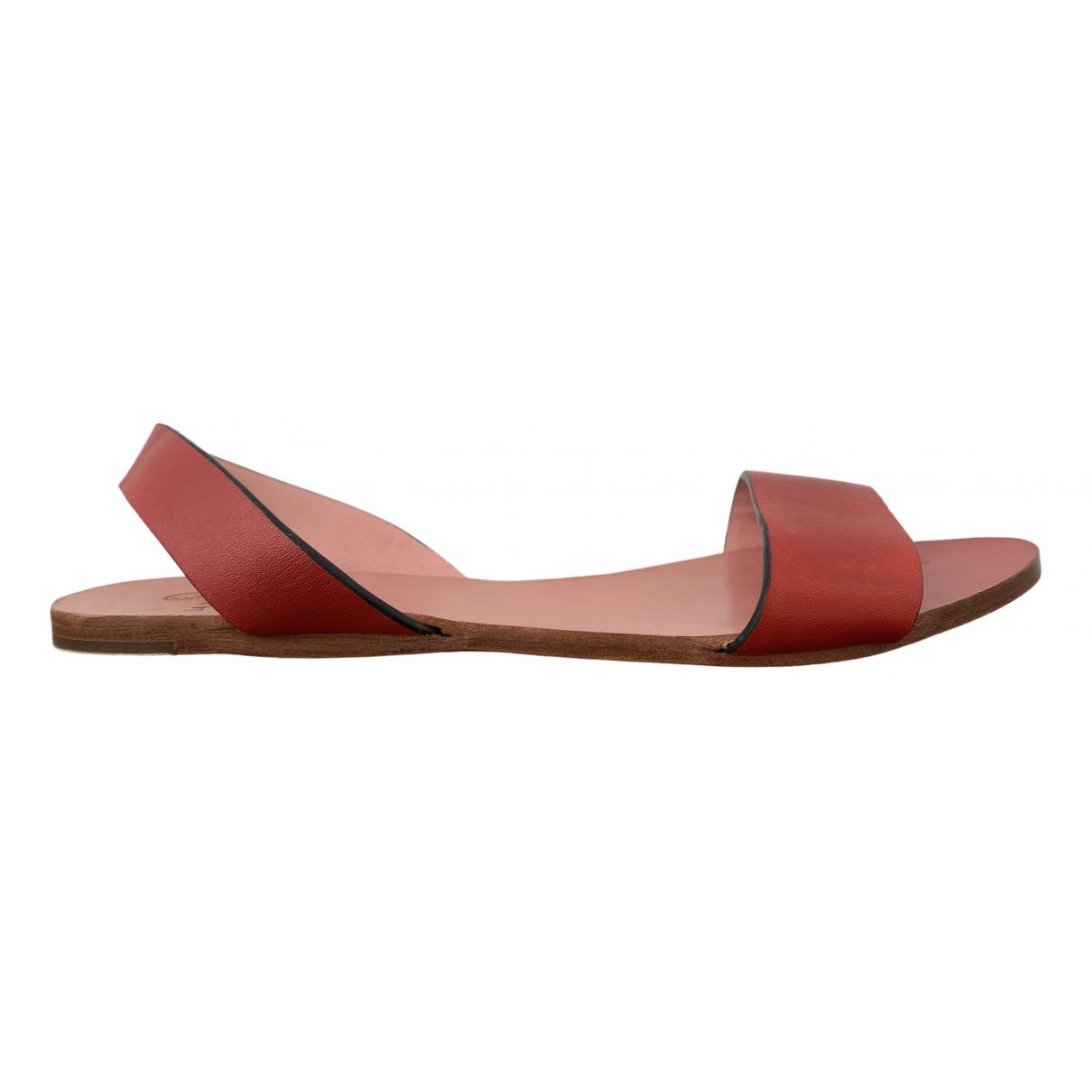 La Portegna \N Sandalen in  Rot Leder