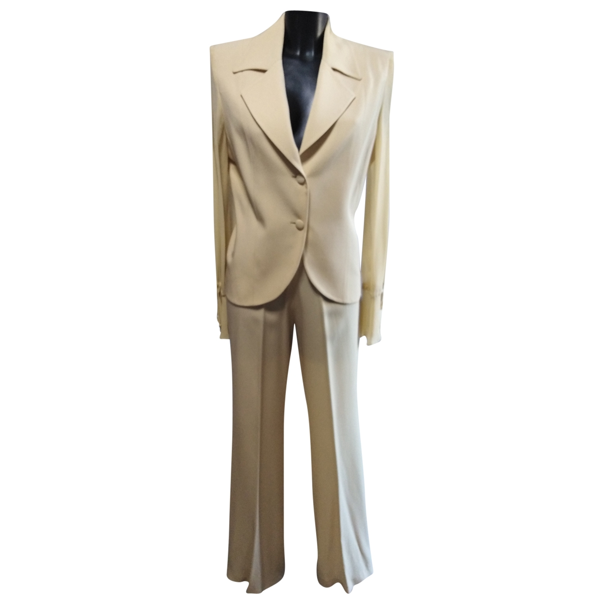 Non Signé / Unsigned \N Beige jacket for Women 46 IT