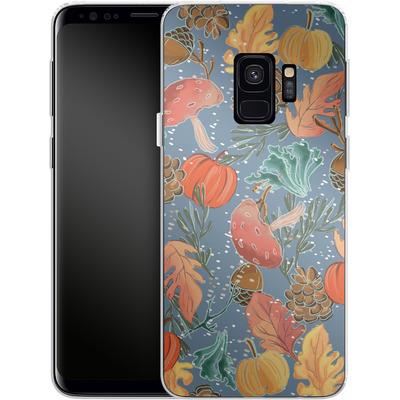 Samsung Galaxy S9 Silikon Handyhuelle - Fall Woodland Blue von Mukta Lata Barua