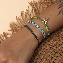 3 Stuecke Armband mit Biene Dekor