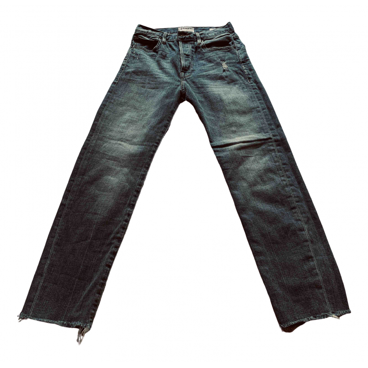 Frame Denim \N Blue Cotton Jeans for Women 25 US