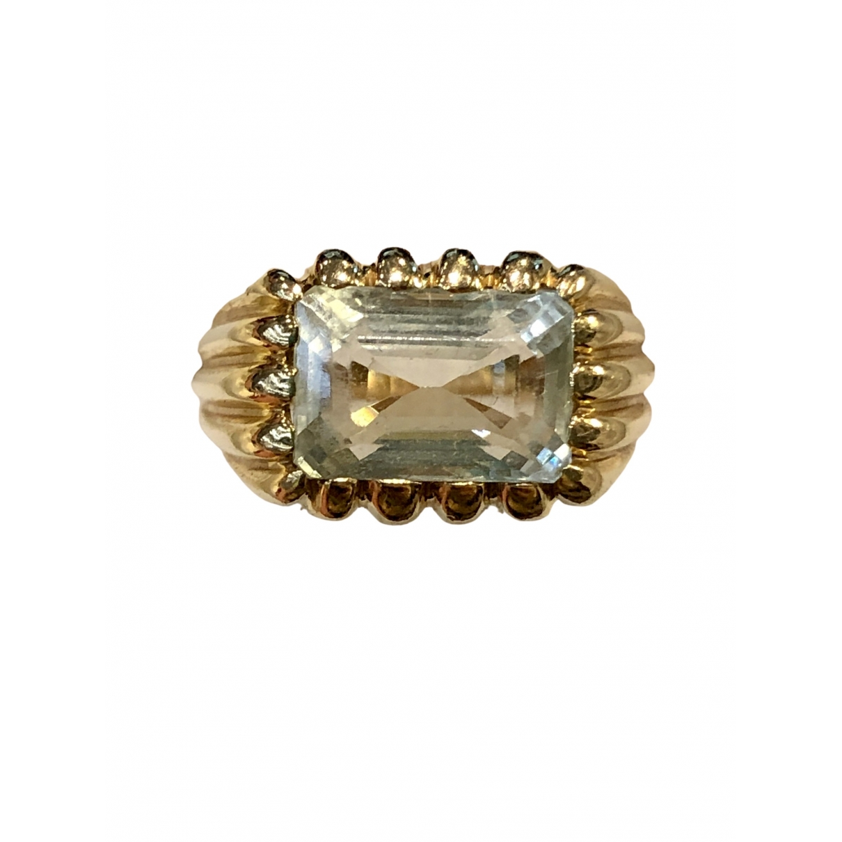 Non Signé / Unsigned \N Green Yellow gold ring for Women 50 EU