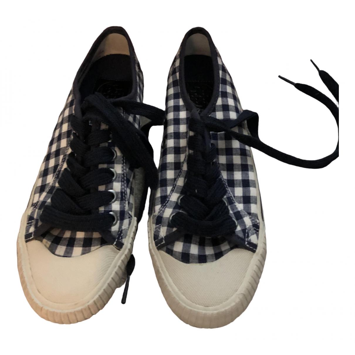 Tory Burch \N Sneakers in  Blau Leinen