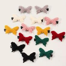 14pcs Kleinkind Maedchen flauschigen Schmetterling Dekor Haarspange