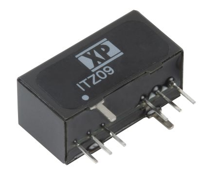 XP Power ITZ 9W Isolated DC-DC Converter Through Hole, Voltage in 18 → 75 V dc, Voltage out 15V dc
