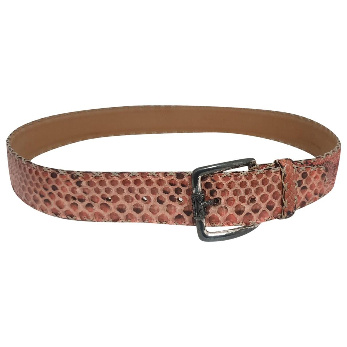 Non Signé / Unsigned \N Pink Python belt for Women M International