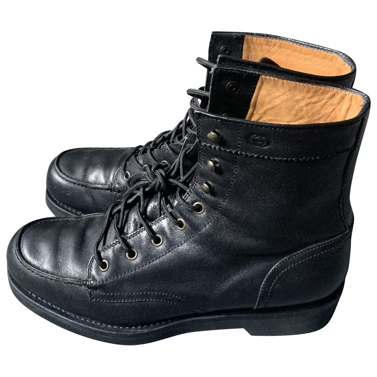 Gucci \N Black Leather Boots for Men 42.5 EU
