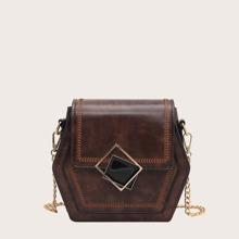 Bolso bandolera con diseño vintage con puntada