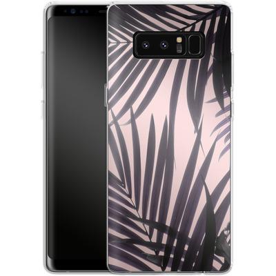 Samsung Galaxy Note 8 Silikon Handyhuelle - Delicate Jungle Theme von Emanuela Carratoni