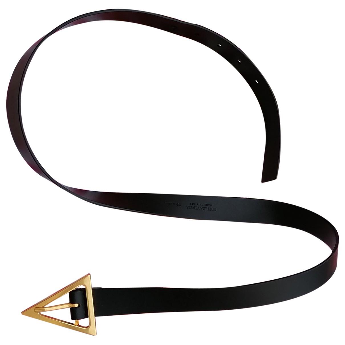 Bottega Veneta \N Black Leather belt for Women 85 cm