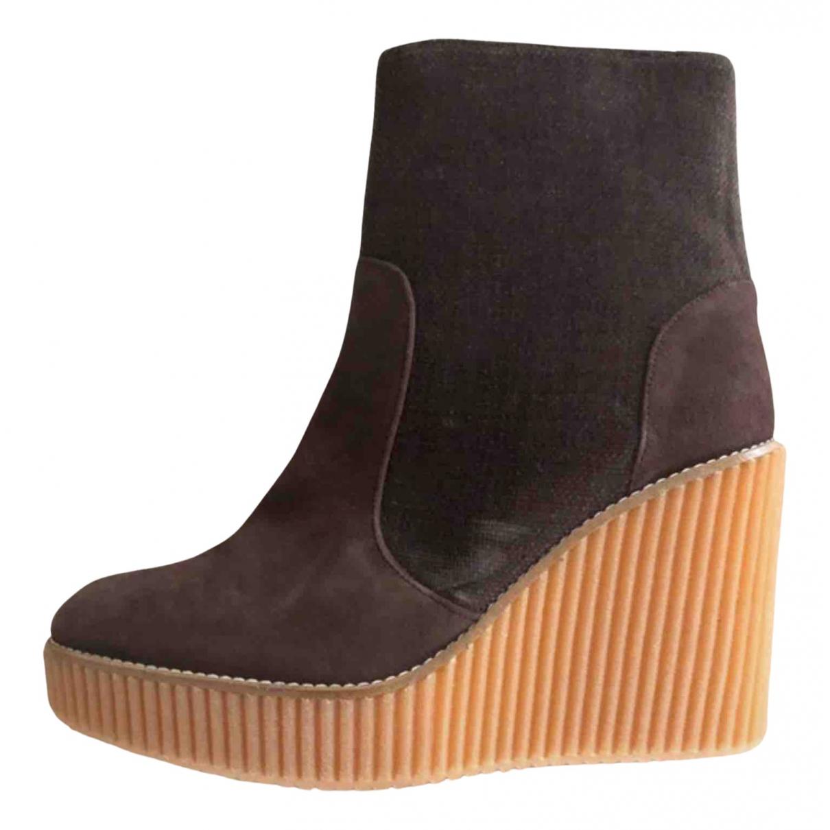 Castaner - Bottes   pour femme en cuir - marron