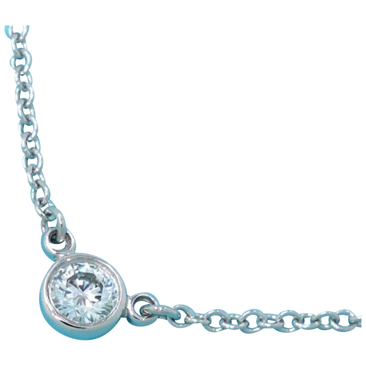 Tiffany & Co - Collier   pour femme en platine