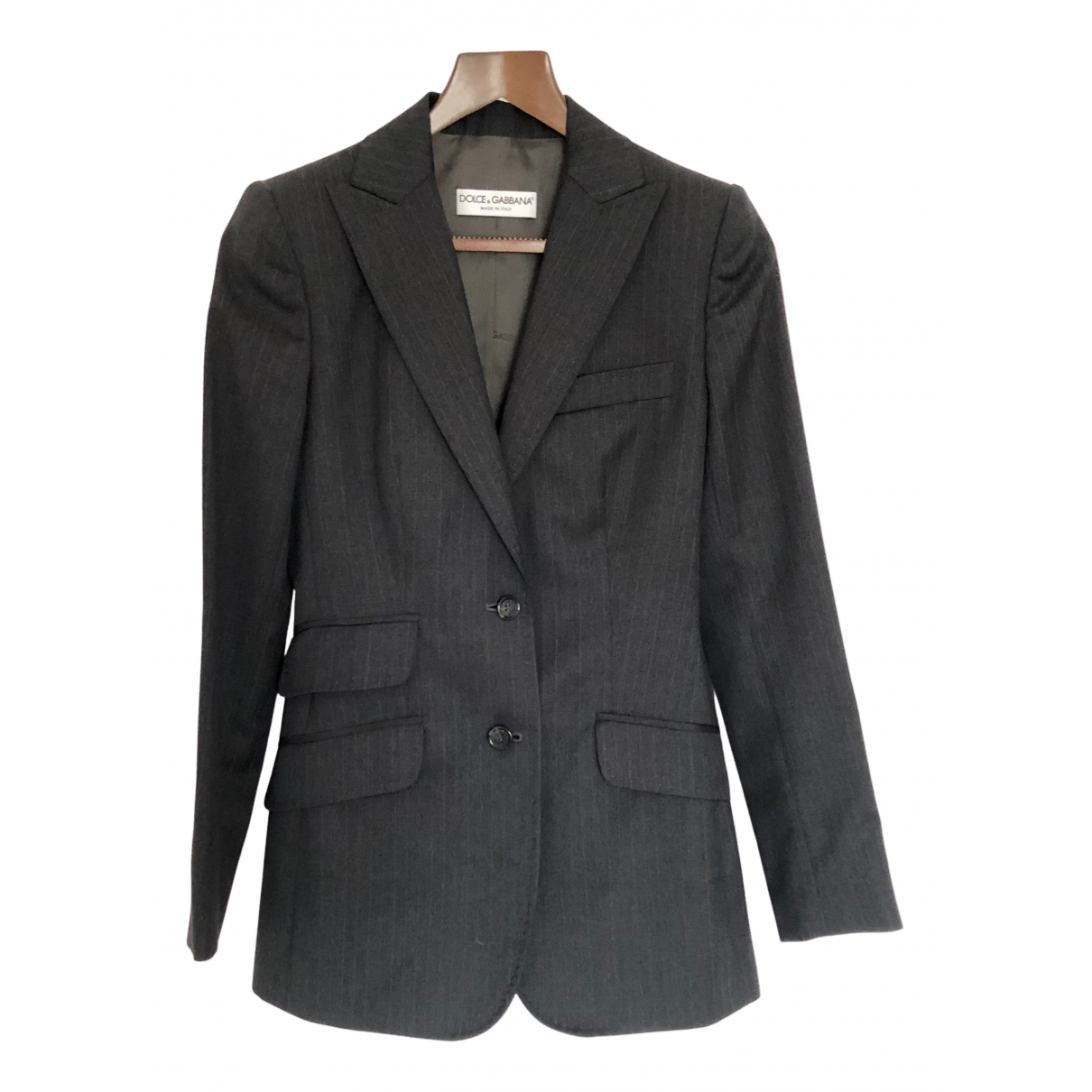 Dolce & Gabbana N Anthracite Wool jacket for Women 38 IT