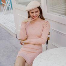 Vestidos de Punto Liso Elegante