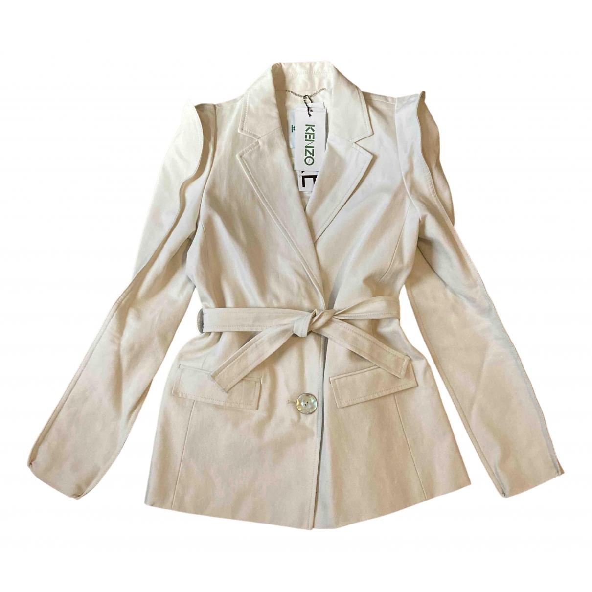 Kenzo - Veste   pour femme en coton - beige