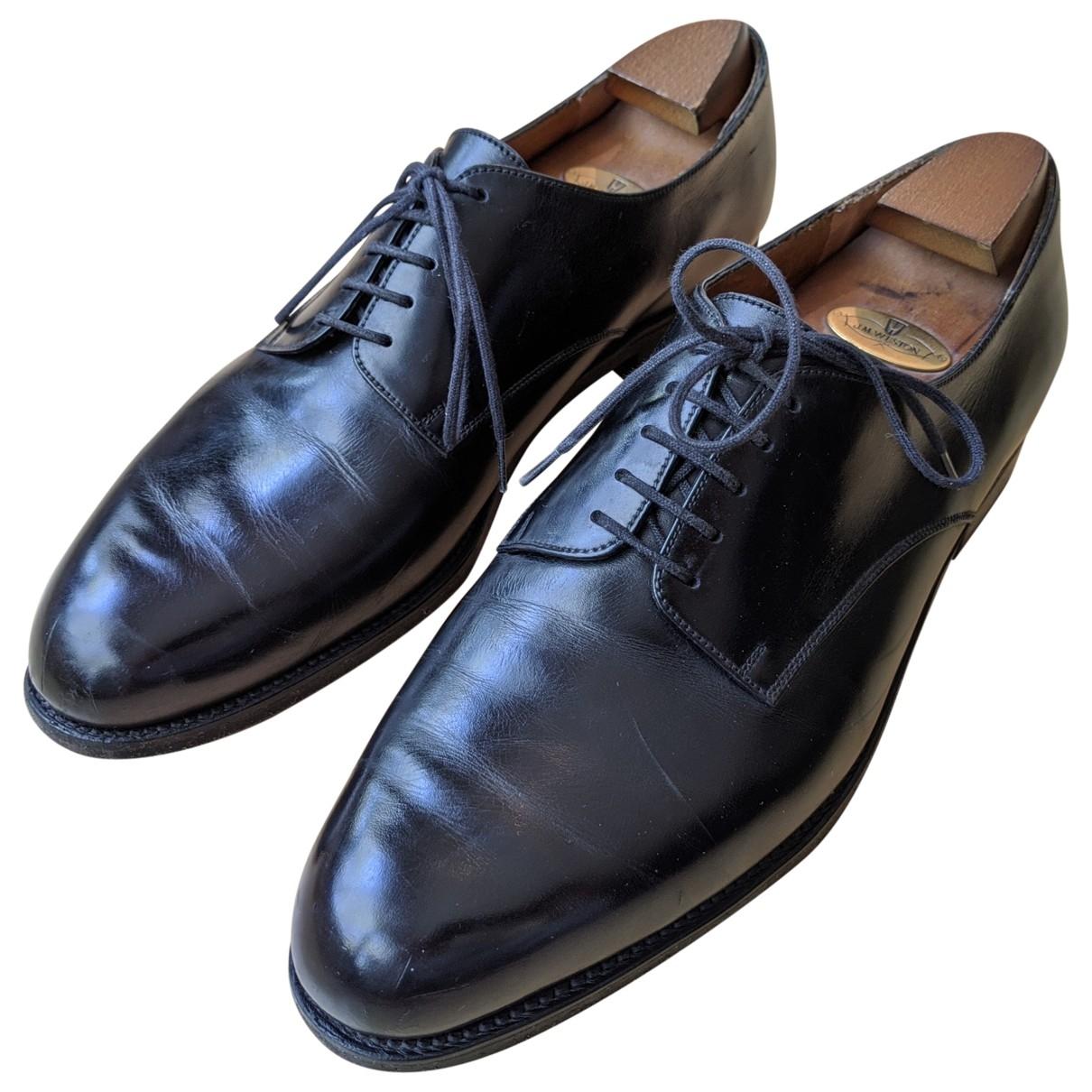 Jm Weston \N Black Leather Lace ups for Men 10 UK