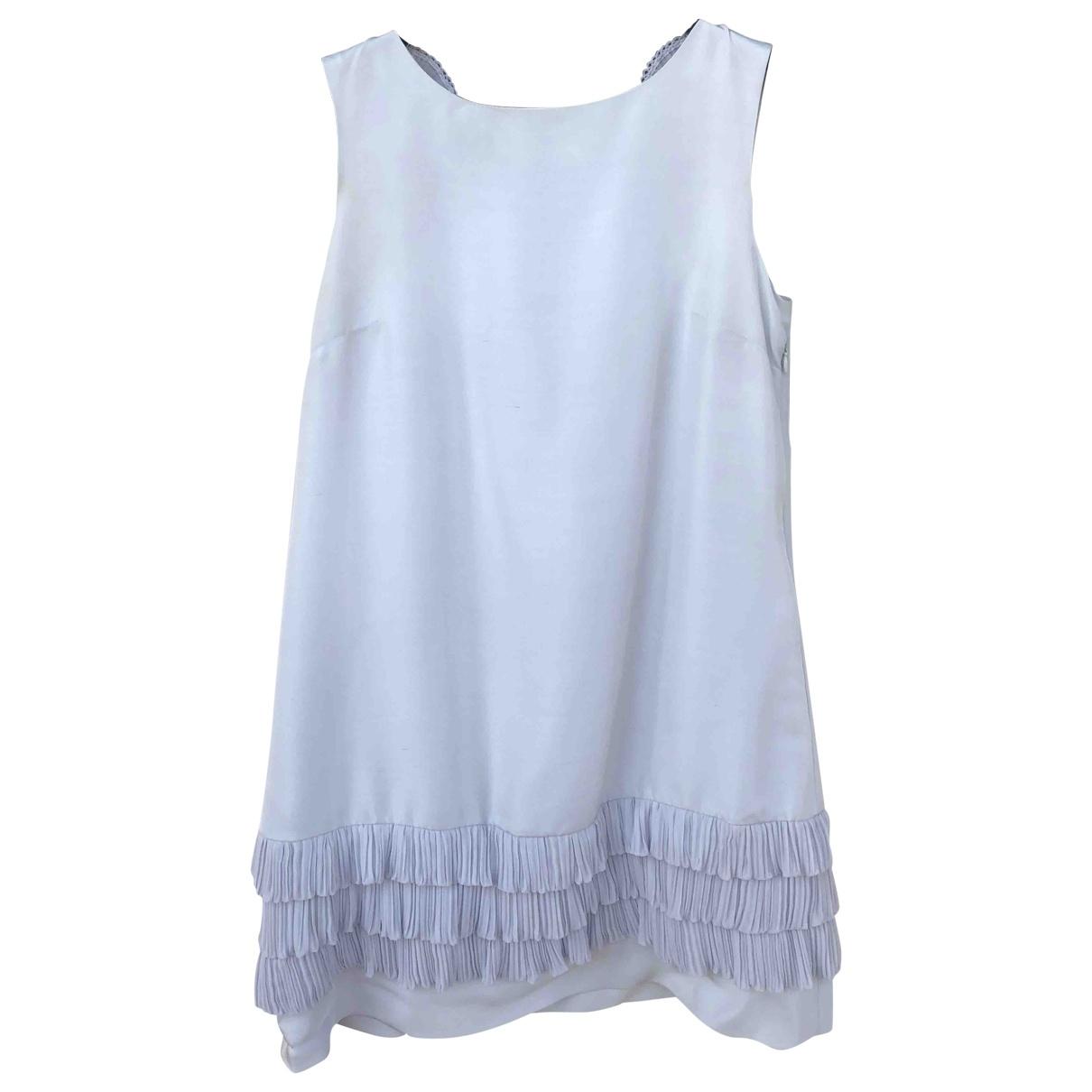 Manoush - Robe   pour femme en soie - gris