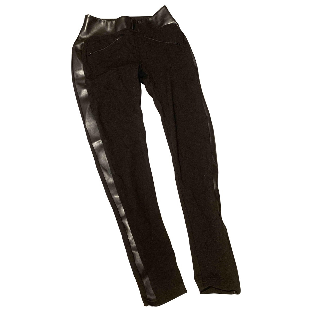 Anne Fontaine \N Black Trousers for Women 38 FR