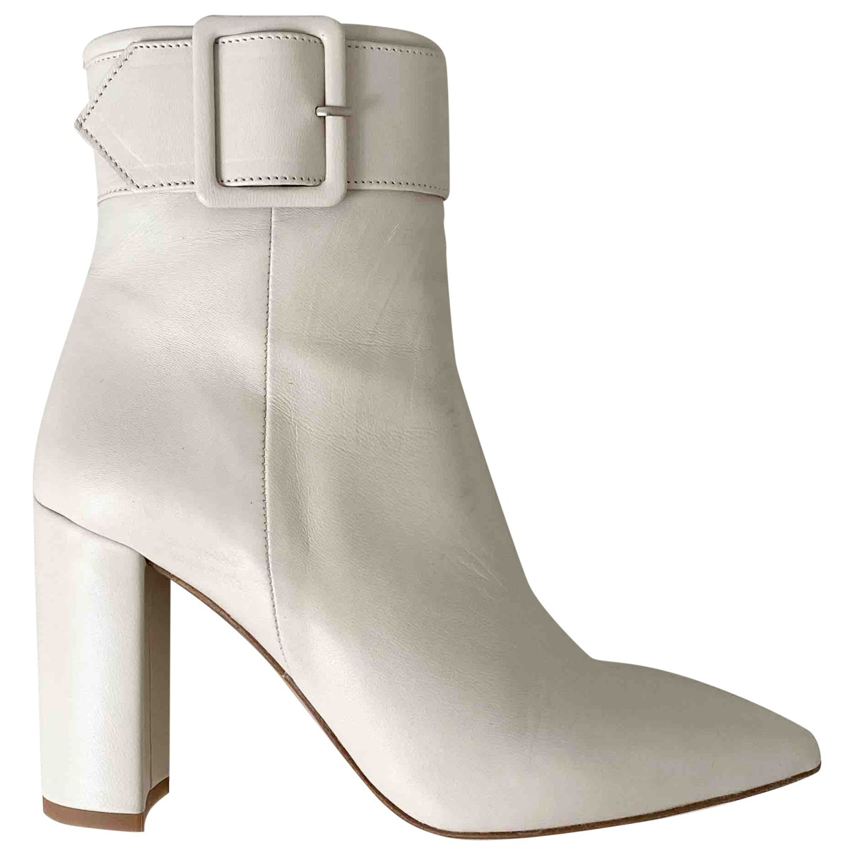 The Kooples \N Ecru Leather Ankle boots for Women 37 EU