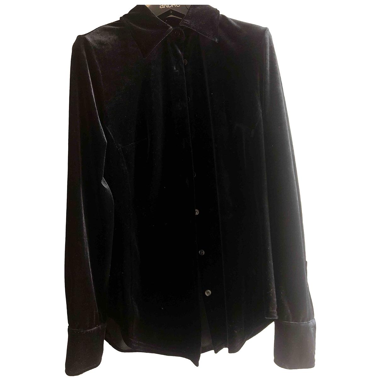 Max & Co - Top   pour femme en velours - noir