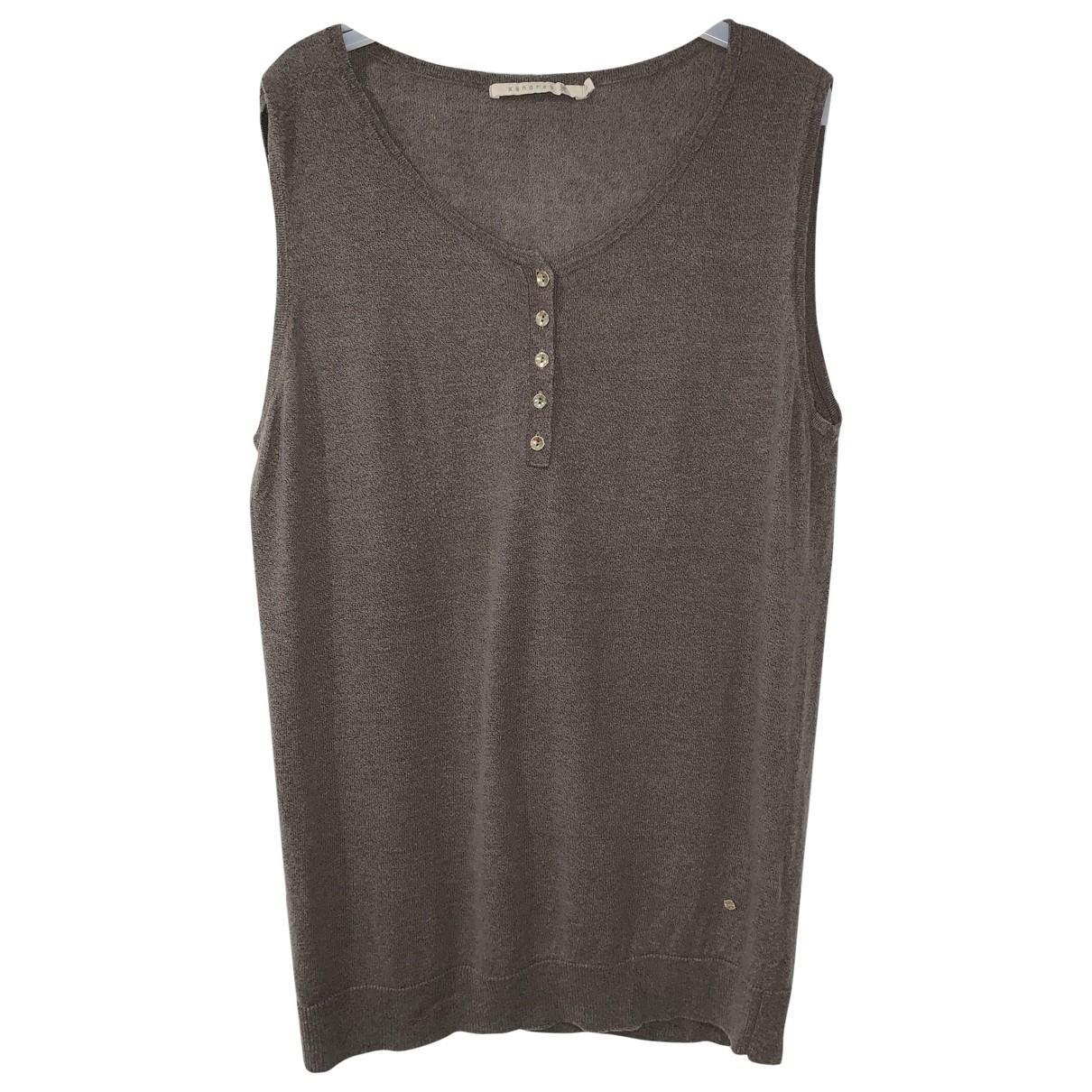 Xandres - Top   pour femme en lin - gris